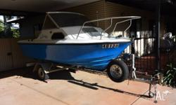 4.6m in very good condition. 70 hp 2 stroke yamaha and