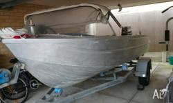 14ft dinghy Has canopy 40HP yamaha outboard Front