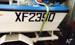 Hi there. I'm selling my 4.5m fibreglass boat. 30hp