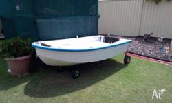 8ft tinnie was a tender boat for a yaught 4hp 2 stroke