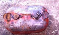 boat outboard fuel tank metal needs paint on the