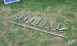 rocket launch boat frame s/ steel and 2 sand ancors and