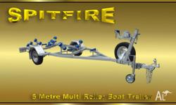 SPITFIRE 5 Metre Multi Roller Boat Trailers are a Heavy