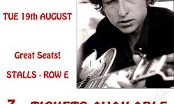 I have 3x tickets available to see Bob Dylan at the