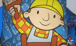 Bob the Builder cushion - includes insert. Same print