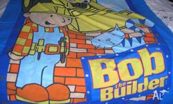 Bob the builder dooner cover, single bed. Good