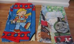 A set of Duvet/Doona Bob The Builder cover set for