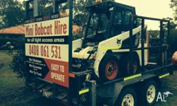 - 1.6tonne bobcat excavator 4 buckets ,easy operation