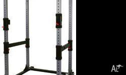 BODYCRAFT POWER RACK. SEMI COMMERCIAL RATED, FULLEY