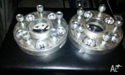 2 x 5x120 25mm bolt on wheel spacers (hubcentric) fit