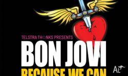 2 BON JOVI GOLD TICKETS FOR SALE!! $190 EACH. GREAT