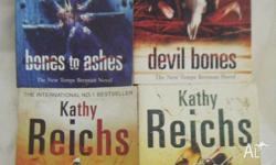 4 Kathy Reichs books $5 each -Bones to Ashes -Devil