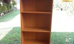 Book shelf 1770h X 290d X 620w. Holds lever arch