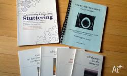 I'm selling my books to help with stuttering. Pickup