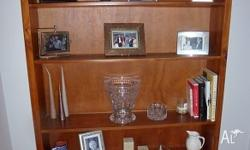 Wooden bookshelf in reasonably good condition H:1.8M &
