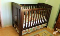 Matching Boori Country Classic cot bed with Mattress