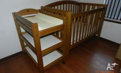 Boori Change Table and Cot set. Cot can be used as a