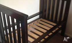 I have a boori cot that converts to toddler bed, with