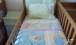 Solid wood Boori cot with mattress. Cot has some marks