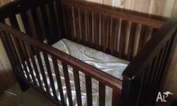 NEED GONE ASAP!! Boori Country cot $200ono Comes with