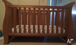 Beautiful boori 3 in 1 country collection sleigh cot.