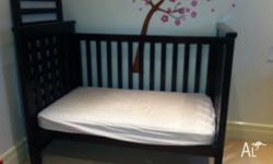 Boori Pioneer Cot - Walnut colour In good condition,