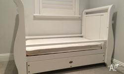 This Boori Sleigh Cot was well over $1000 when new. It