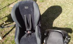 Baby love carseat and toddler booster seat, both used
