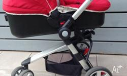 Bootiq pram that transforms into a stroller when the