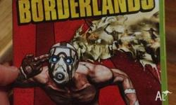 The Xbox 360 Borderlands game. Perfect working order.