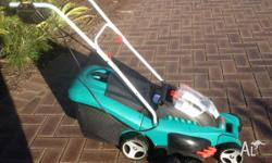 Bosch 37cm 36V Lithium Rotak Cordless Mower. High