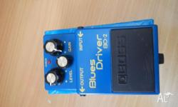 Boss Blues driver, a classic OD pedal used by many