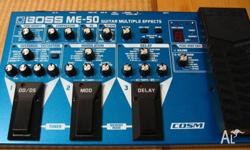 BOSS ME50 Guitar Multiple Effects Pedal Plugs straight