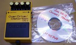 BOSS OS 2 overdrive distortion pedal manual as new.