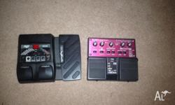 I'm selling my old guitar pedals because I don't use