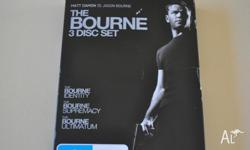 The Bourne 3 Disc DVD set. The Bourne Identity, The