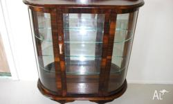 Bow Front China Display Cabinet,Full Restored & French