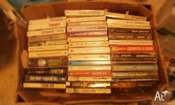 For sale box full of used and quite old books. Most of