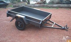 6X4MEDIUM DUTYTRAILER WITH12 INCH SIDES Features