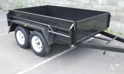 BOX TRAILER - 8 X 5 HEAVY DUTY TANDEM TRAILER - BRAND