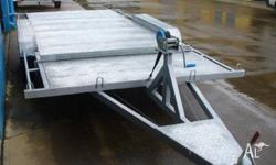 BOX TRAILER AND CAR TRAILERS 4.8MTR TRAILER AND WINCH