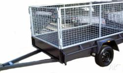 Box Trailer Cage Trailers Box Trailer 8x5 H/Duty w. 3ft
