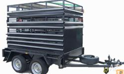 "Box Trailer Trailers Stock or Cattle Crates ""W"" Panel"