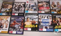 boxing dvd's as per picture, wiil post at buyers cost