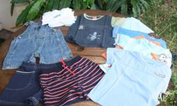 Boy clothes size 0 In excellent condition ! Singlets 50