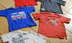 Boy's clothes, Size 4, 5 assorted items. Red t shirt (
