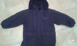 Navy blue boy�s padded jacket, lined with fleece