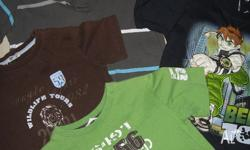 BOY'S T-SHIRTS 3 x SIZE 6 & 1 x SIZE 7 NEVER WORN ALL