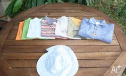 Nice Boy shirts size 2-3 and 1x hat 50 c for the plain