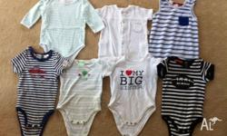 Short Boys onsies Size 00 3-6months All in excellent